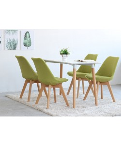 Dining Set Deals - Boston 1.2M Table & 4 Fabric Chairs
