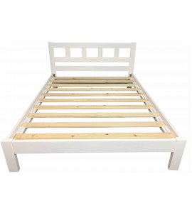 Lucia King Bed White Color