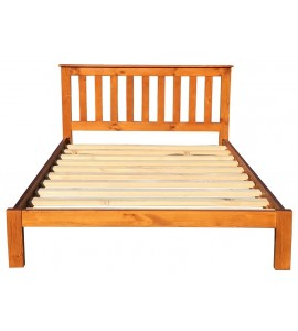 Classic Double Bed Frame Honey