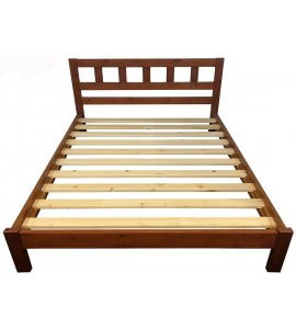 Lucia Queen Bed Honey Color